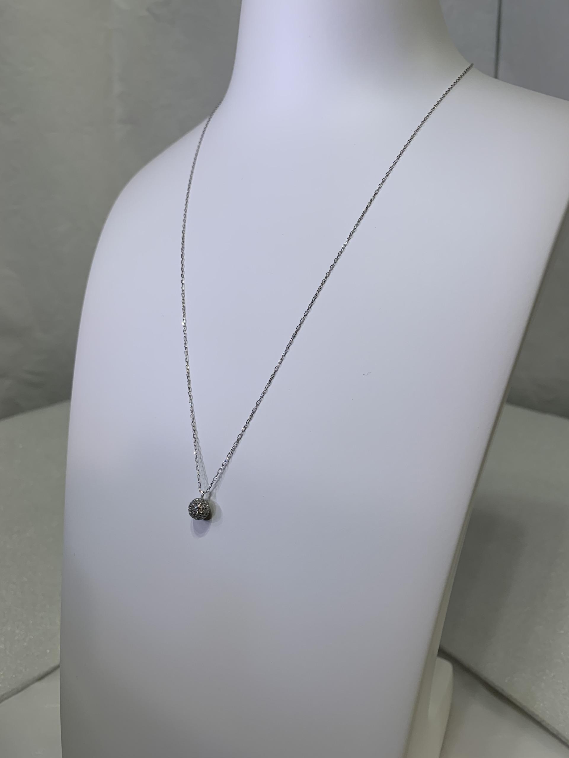 HP-0007 k18WG ダイヤモンドネックレス ダイヤモンド 0.3ct up